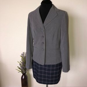East 5th Tall Gray 4 Button Blazer | Size 8 Tall